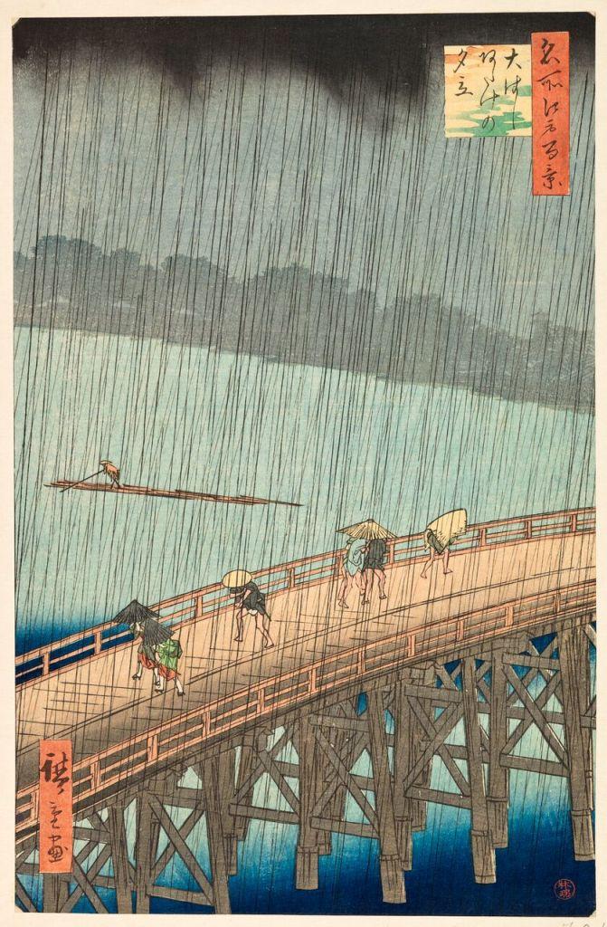 Utagawa Hiroshige, Averse soudaine sur le pont Ohashi, à Atake Serie, Paysages japonais, Musée Guimet