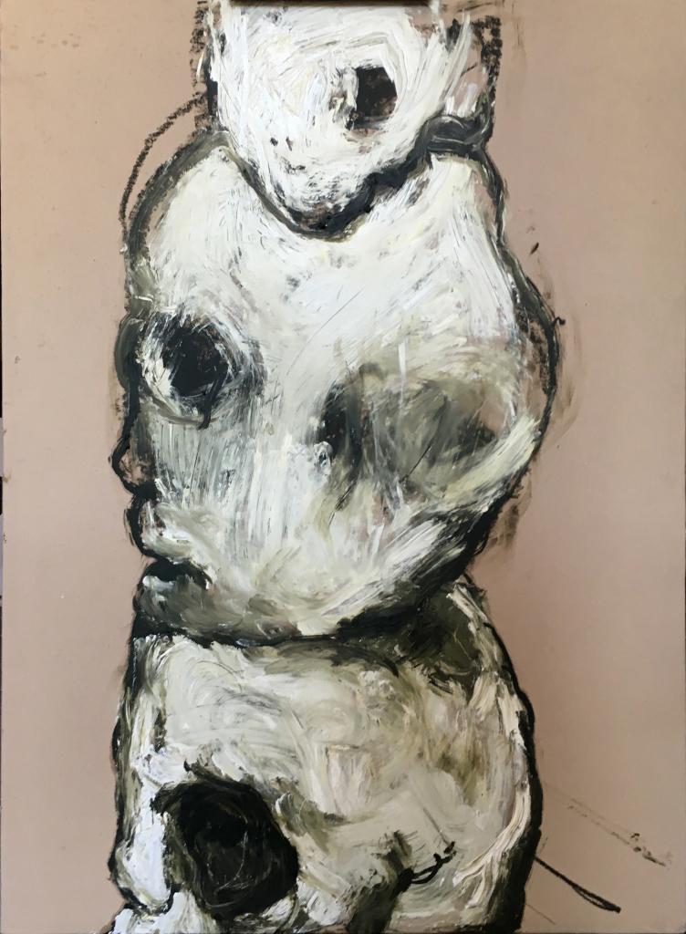 Lydie Arickx, Vanités I Huile et pigments sur papier marouflé, 99 x 135 cm
