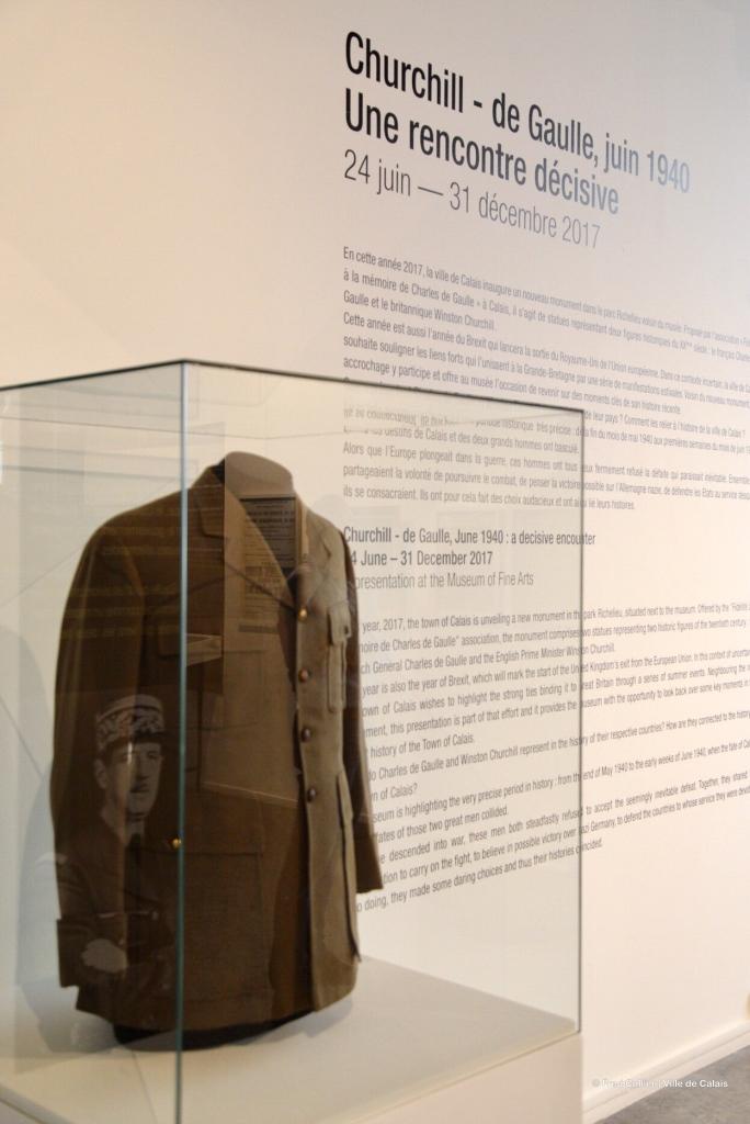 Vareuse, Churchill de Gaulle musée des beaux-arts, Calais