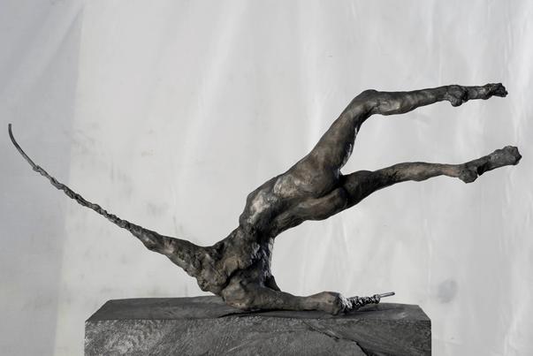 Lydie Arickx, Venant de quand, Bronze patiné
