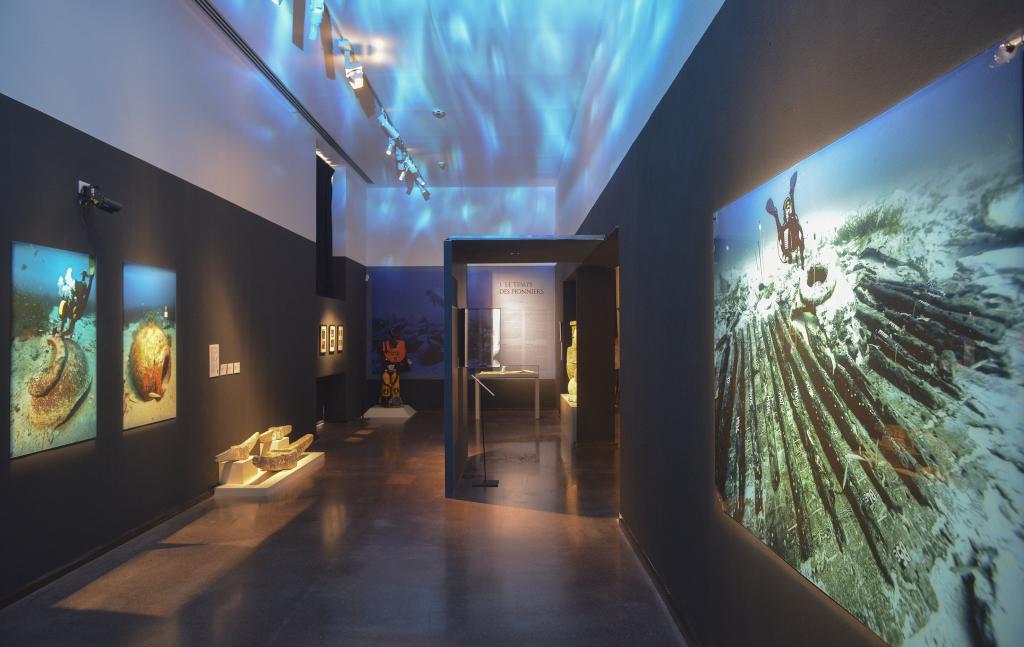 Vue de l'exposition Secrets d'épaves, 50 ans d'archéologie sous-marine en Corse au Musée de Bastia (1)