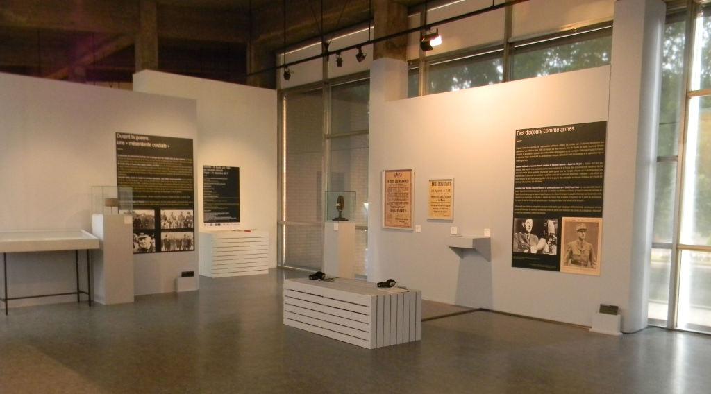 Vue exposition Churchill de Gaulle musée des beaux-arts, Calais