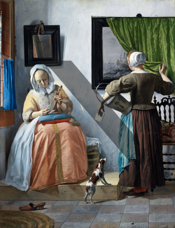 Woman reading a letter, Gabriel Metsu