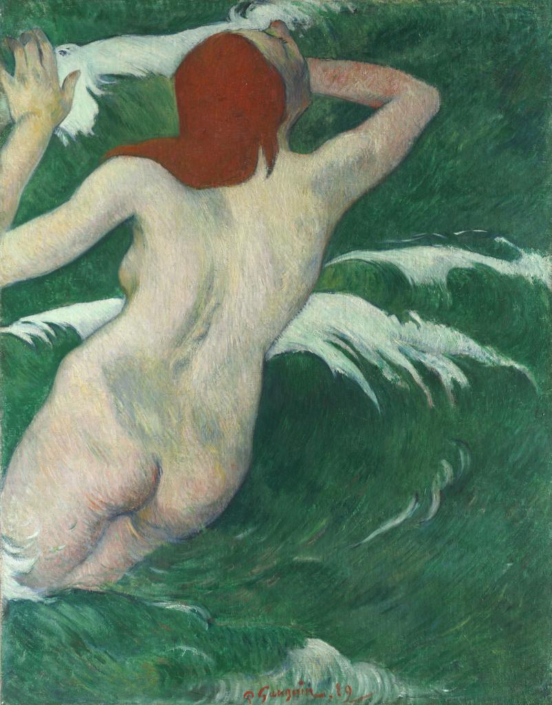Paul Gauguin (1848-1903)Dans les vagues 1889