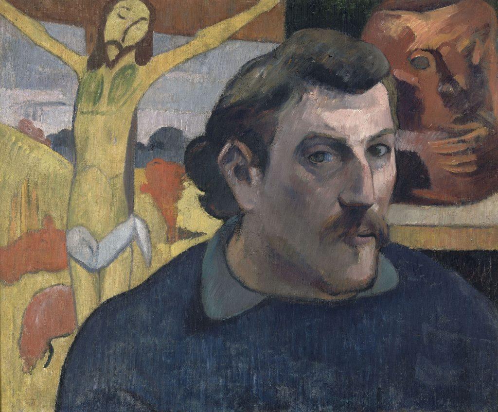 Paul Gauguin (1848-1903)Portrait de l'artiste au Christ jaune 1890-1891