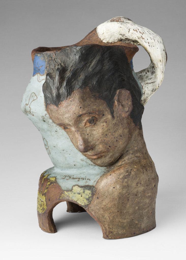 Paul Gauguin (1848-1903)Vase avec Léda et le cygne hiver 1887-1888