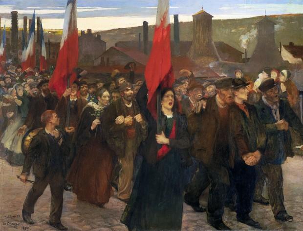 Jules Adler, La grève - Le Creusot, Peindre sous la IIIème République, MBA Dole