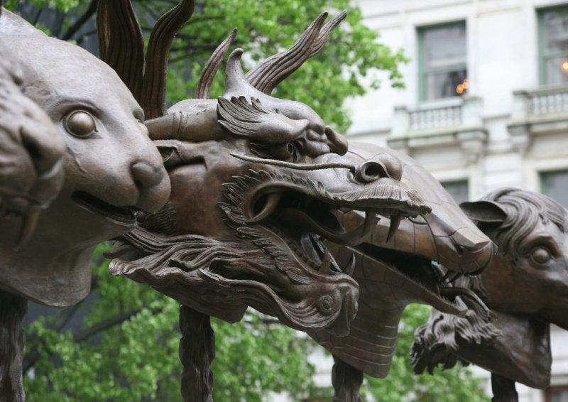 Ai Weiwei, Circle of Animals Zodiac Heads, 2010 - Et après Ce que deviennent les oeuvres de la FIAC 2017