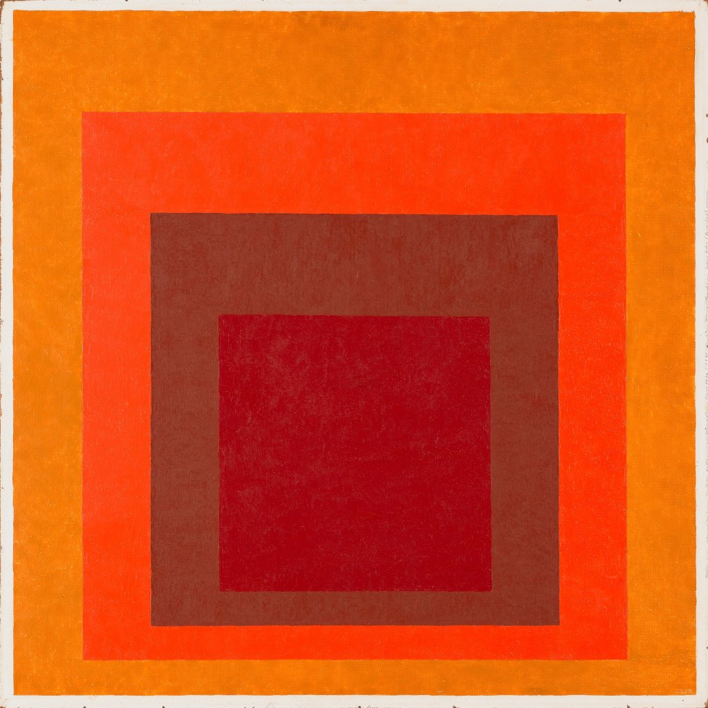 Affectionate (Homage to the square) Josef Albers 1954