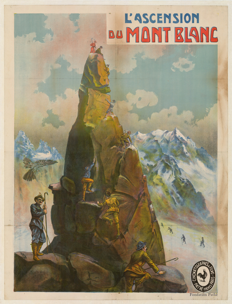 Ascension Mont-Blanc, bande dessinée, Sport et cinéma, Fondation Pathé