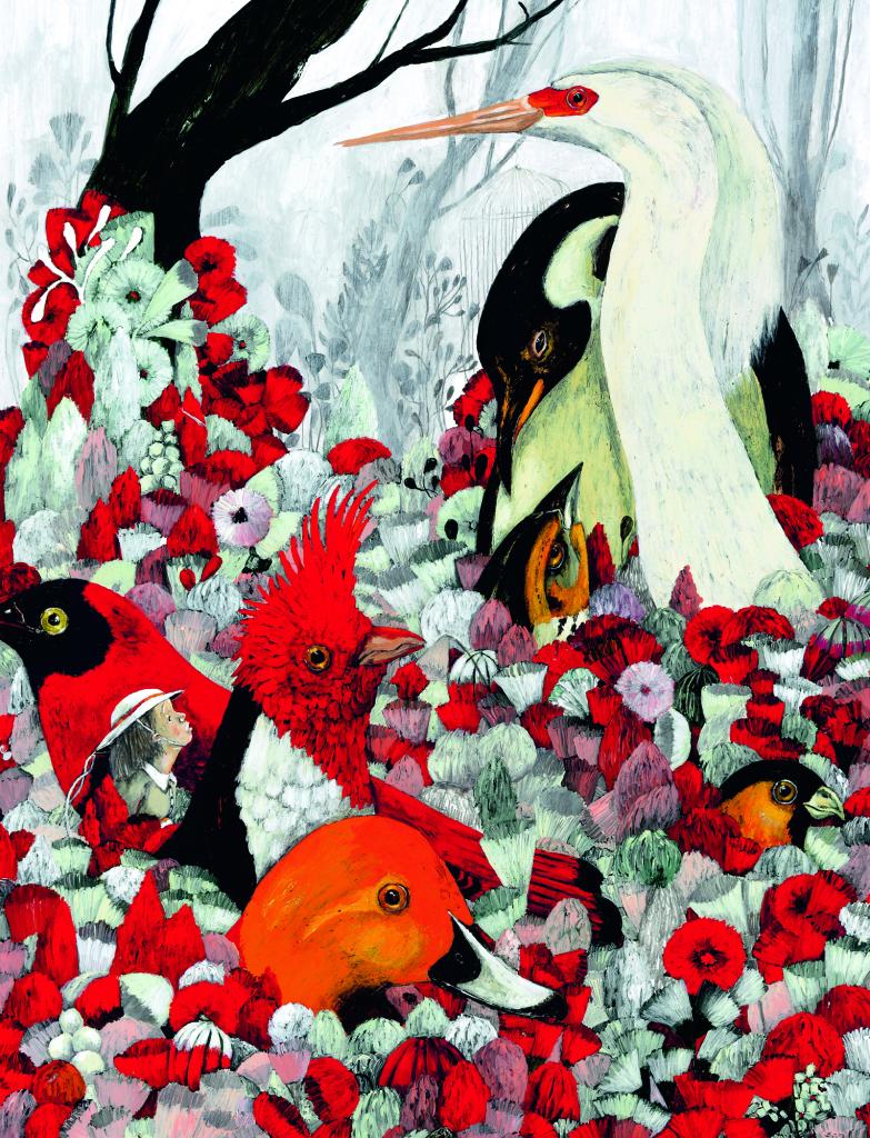 La volière dorée, Carll Cneut, musée de l'illustration jeunesse, Moulin