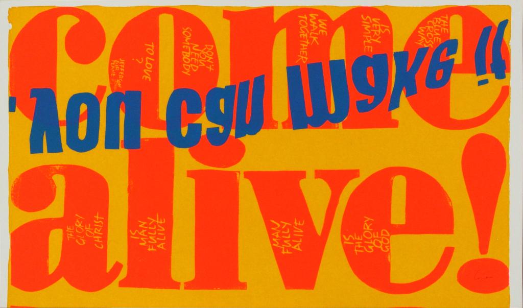 Corita Kent, come alive, 1967// Prix : à partir de 2 500 € (Galerie Allen, Paris)