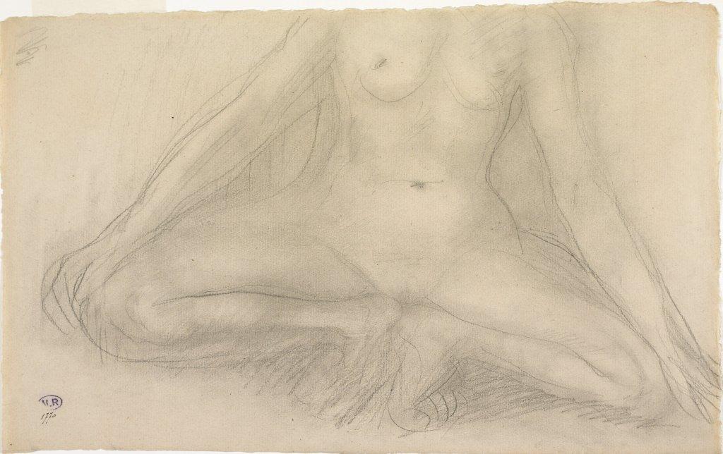 15. Rodin et la danse - Femme nue, accroupie, bras et jambes écartés