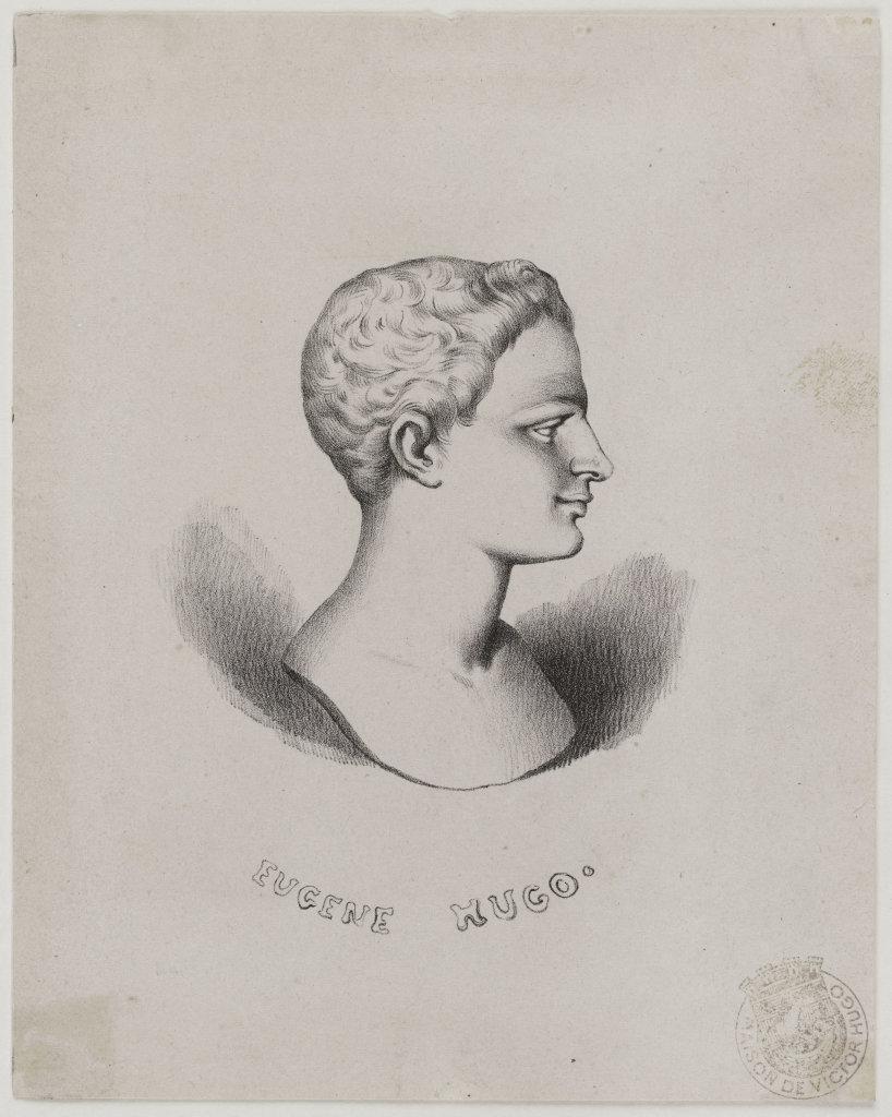 """Anonyme. """"Eugène Hugo"""". Gravure., 1815-1820."""