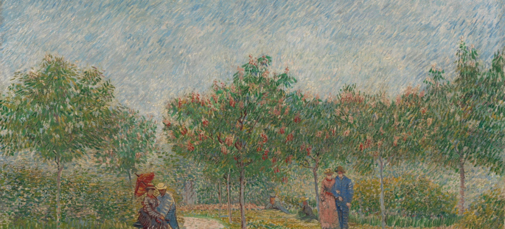 Vincent Van Gogh , Garden with Courting Couples, 1887