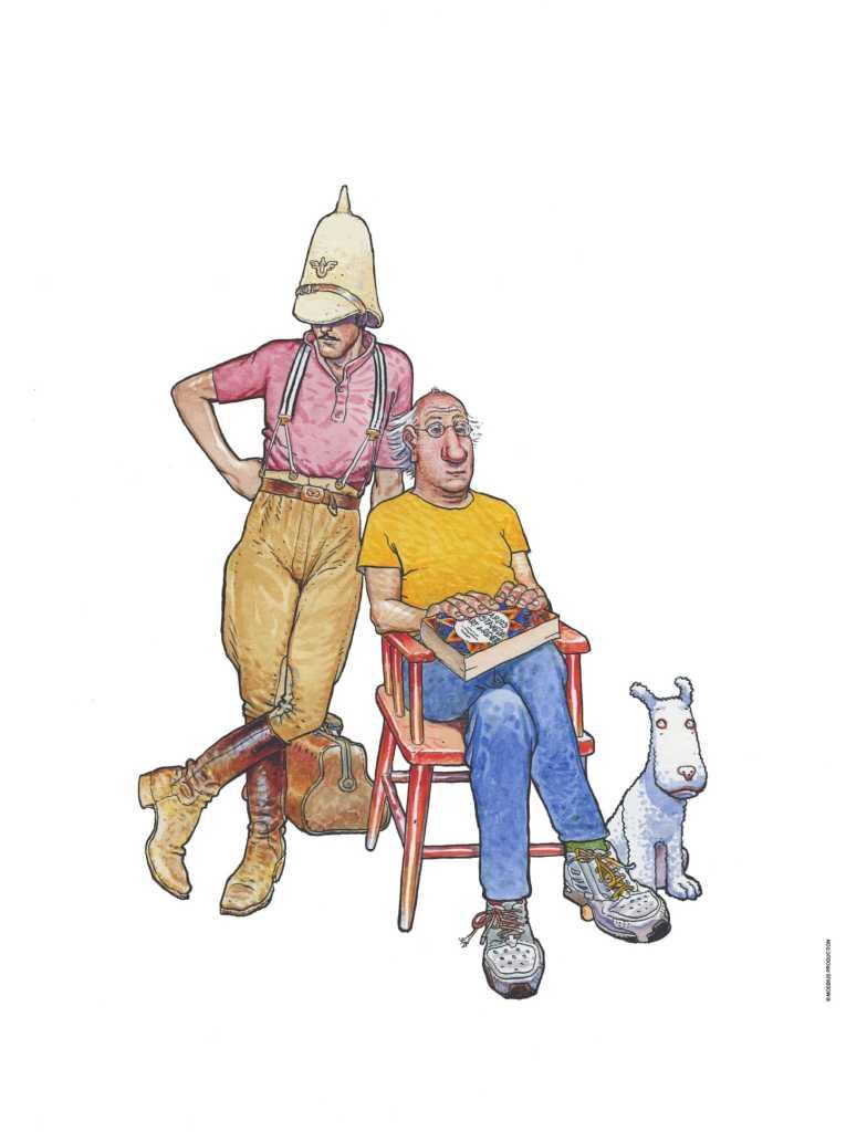 Jean Giraud, Inside Moebius, couverture tome 5, 2008 - Exposition Inside Moebius, L'alchimie du trait à l'Hôtel des Arts de Toulon