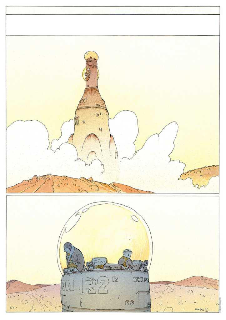 Jean Giraud, La planète encore - Exposition Inside Moebius, L'alchimie du trait à l'Hôtel des Arts de Toulon