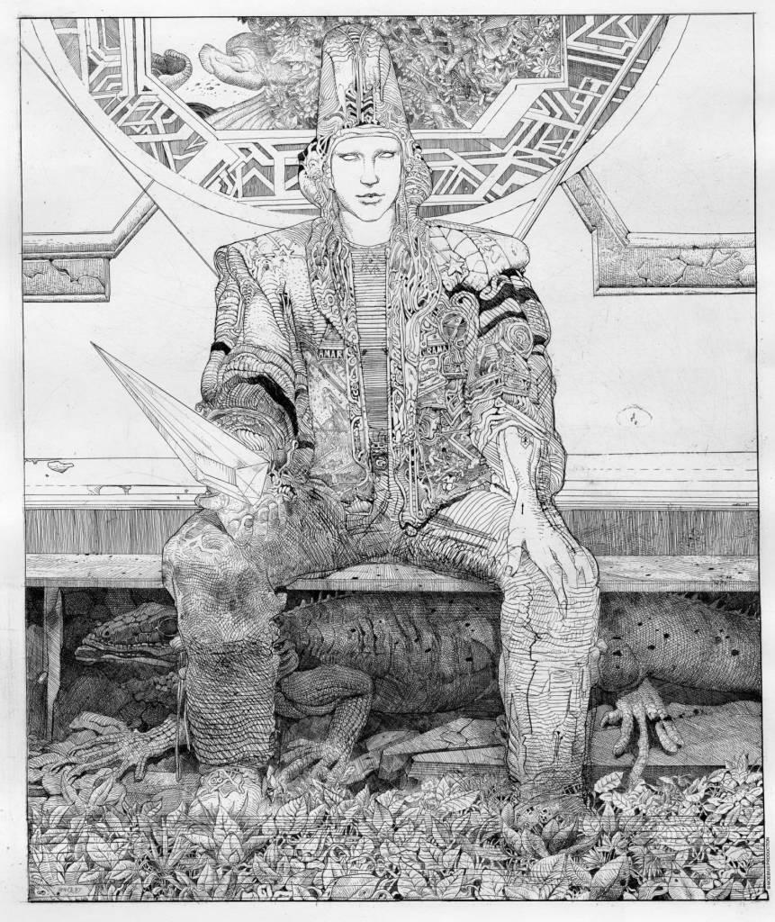 Jean Giraud, Starwatcher au Lézard - Exposition Inside Moebius, L'alchimie du trait à l'Hôtel des Arts de Toulon