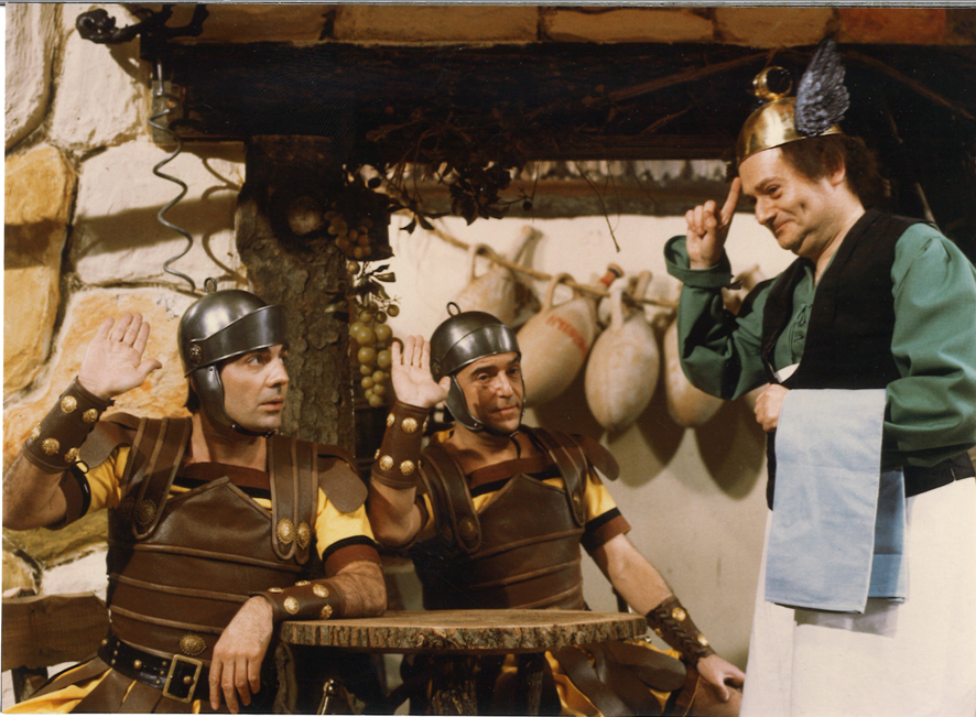 René Goscinny sur le tournage de Deux Romains en Gaule, 1967, Le cinéma de Goscinny, Cinémathèque Française