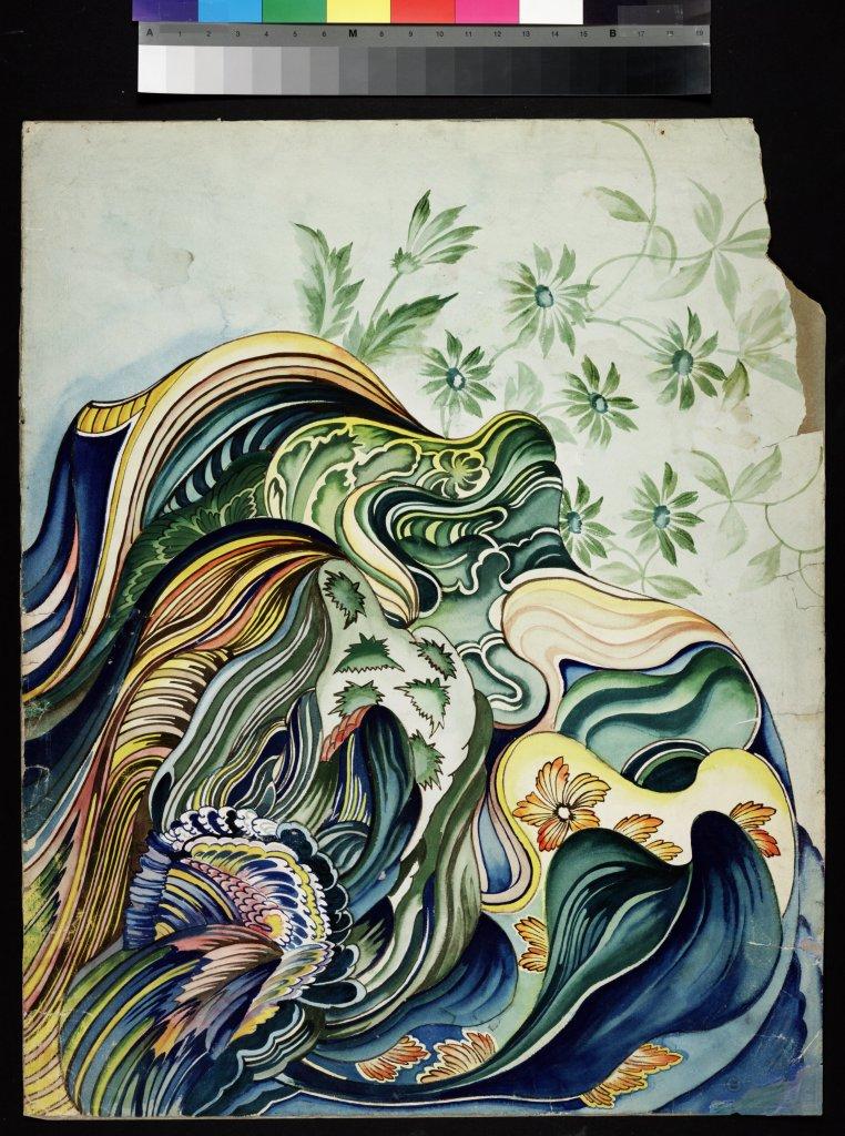 Le Voyageur français, sans titre, entre 1902 et 1905, peinture à l'eau sur papier à dessin