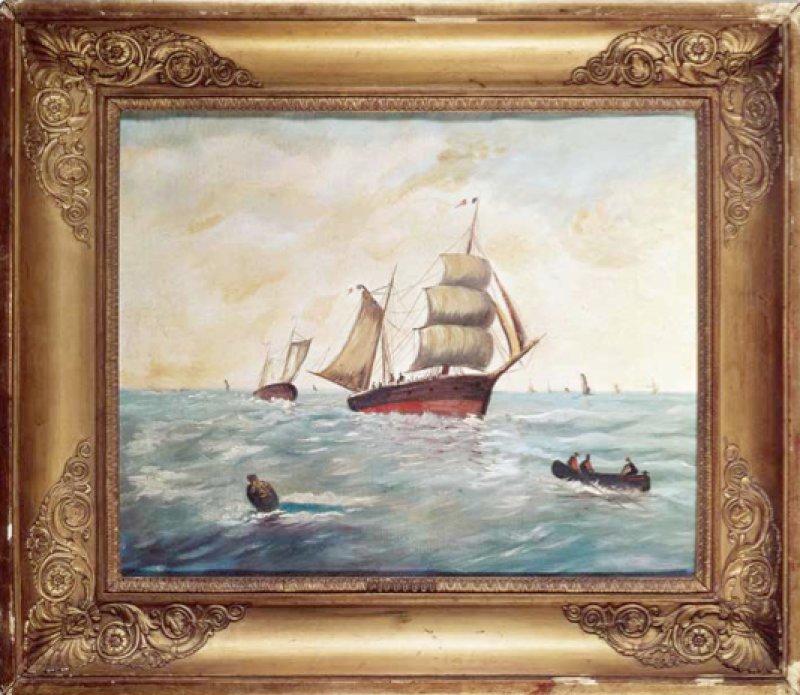 Broodthaers a été pionnier dans l'usage de l'inter-media et des installations créées spécifiquement pour les sites d'expositions. En témoigne cette hybridation entre un livre et un film sur des images nautiques des XIXe et XXe siècles.