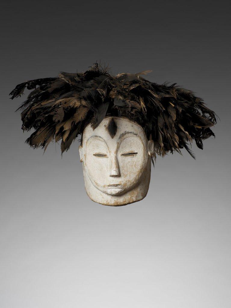 Masque anthropomorphe, Fang, Gabon - Exposition Les Forêts natales, arts d'Afrique Équatoriale Atlantique au musée du quai Branly-Jacques Chirac