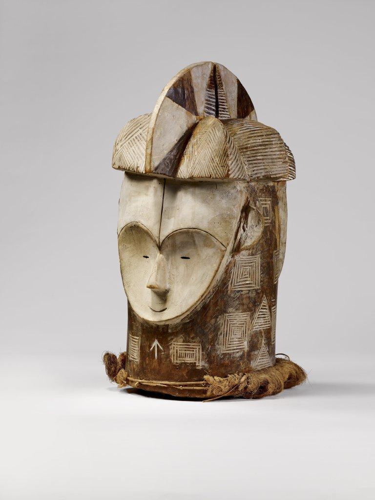 Masque janus, Fang, Gabon, avant 1907 - Exposition Les Forêts natales, arts d'Afrique Équatoriale Atlantique au musée du quai Branly-Jacques Chirac