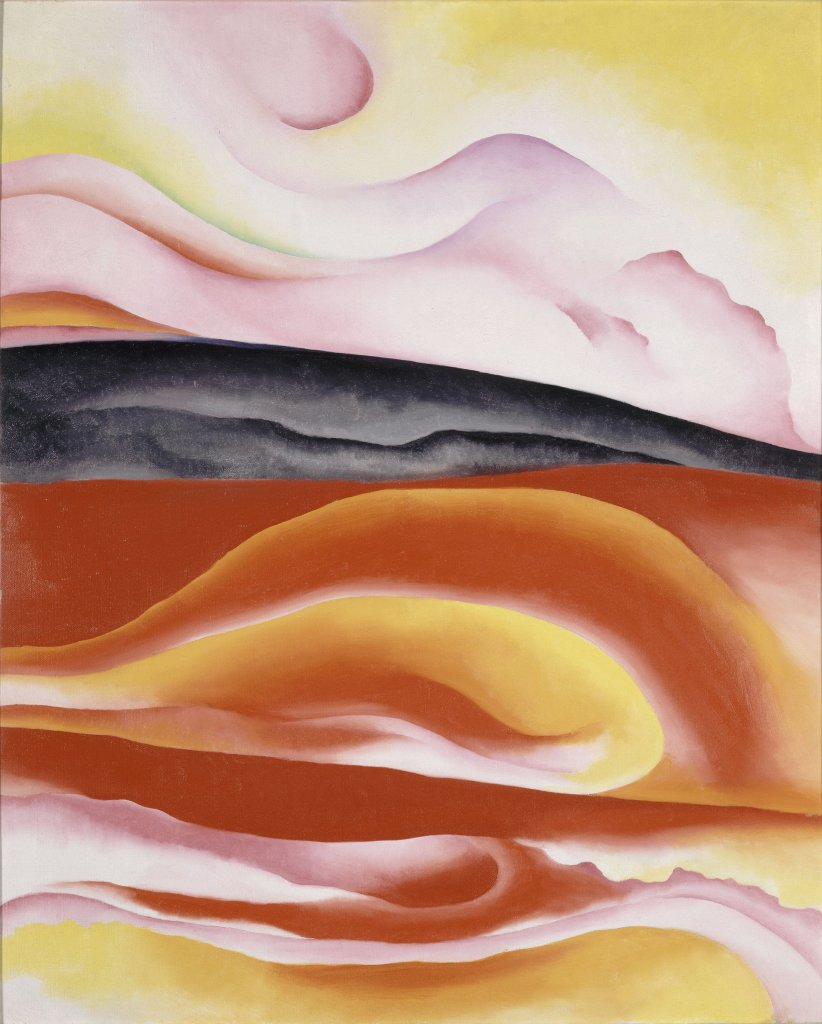 Red, Yellow and black streakGeorgia O'Keeffe 1924 huile sur toile