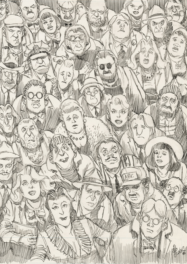 Will Eisner, city people, notebook, 1989