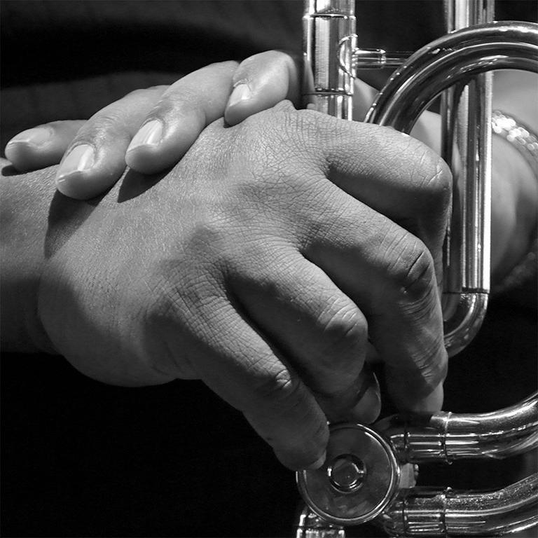 Sophie Le Roux, Fred Wesley - Exposition Le Jazz au bout des doigts, Sophie Roux à la Galerie Hegoa