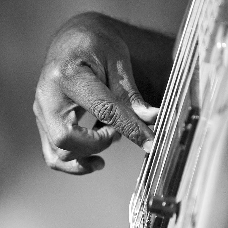 Sophie Le Roux, Richard Bona - Exposition Le Jazz au bout des doigts, Sophie Roux à la Galerie Hegoa