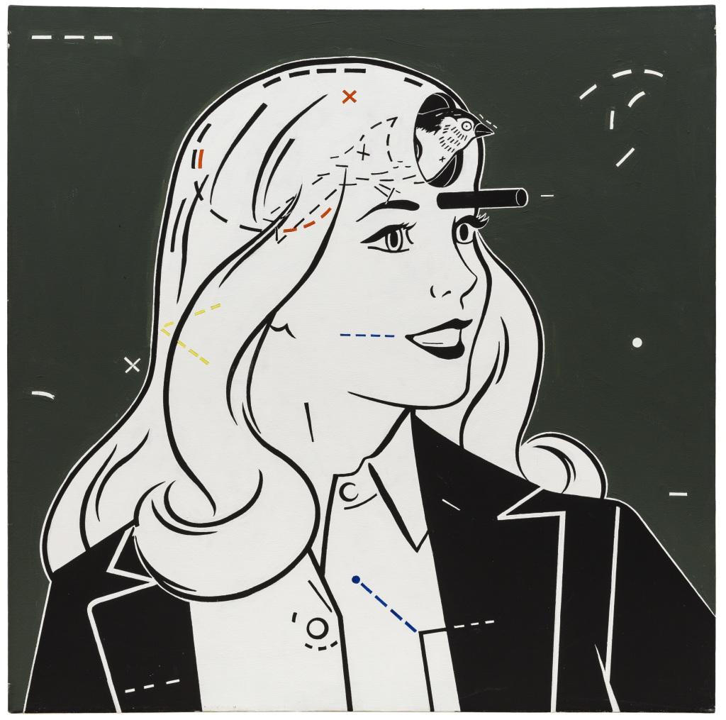 Steve Gianakos, Bird Brain #1, 1984 // Prix : 45 000 € (Galerie Semiose, Paris)