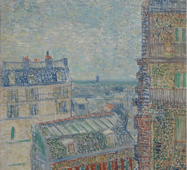 Van Gogh , View from Theo's Apartment ,1887