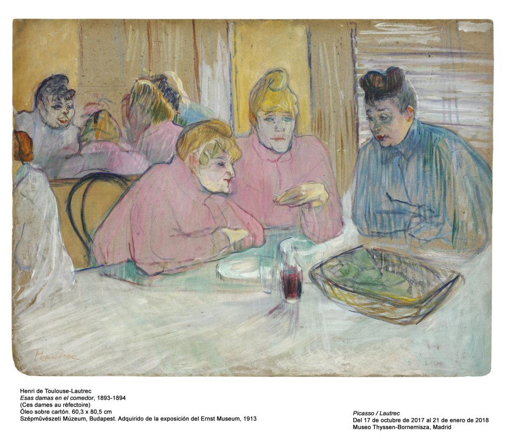 Henri de Toulouse-Lautrec, Esas damas en el comedor (Ces dames au réfectoire), 1893-1894