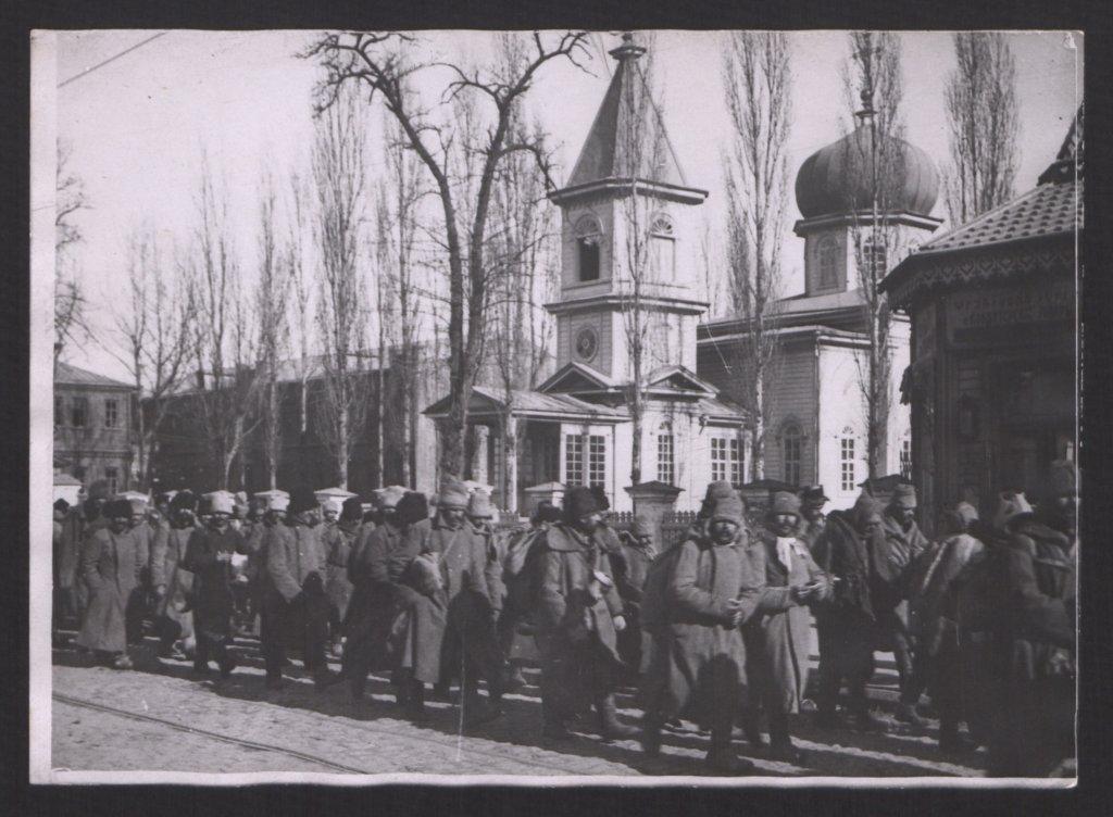 Prisonniers bolcheviques à Ekaterinodar (Krasnodar).