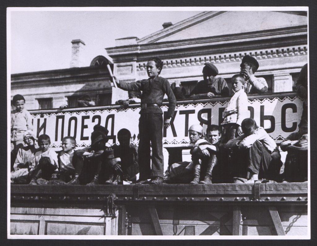 """Train de propagande """"Révolution d'Octobre"""", octobre 1919, Toula."""