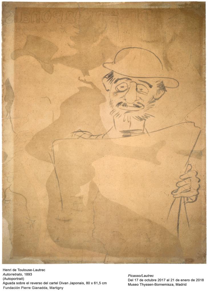 Henri de Toulouse-Lautrec, Autorretrato (Autoportrait), 1893