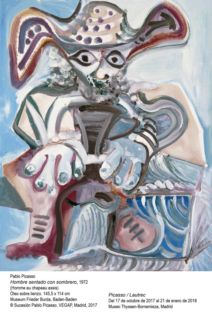Pablo Picasso, Hombre sentado con sombrero (Homme au chapeau assis), 1972