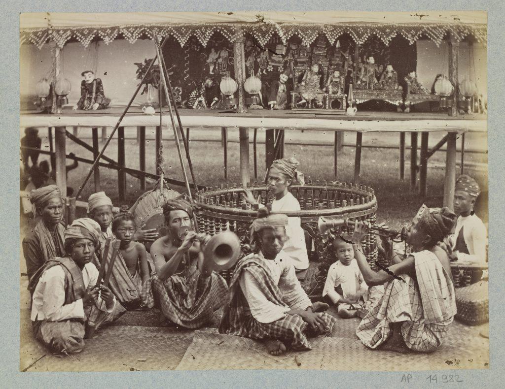 Anonyme, Sans titre, Orchestre birman et Théâtre de marionnettes, avant 1880