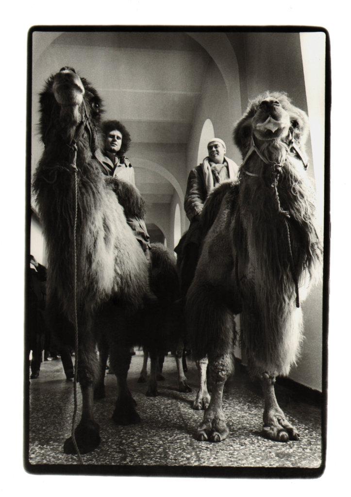 Klaus Rinke et Gunther Uecker dans les couloirs de la Kunstakademie, 1978, Dusseldorf mon amour, CCCOD