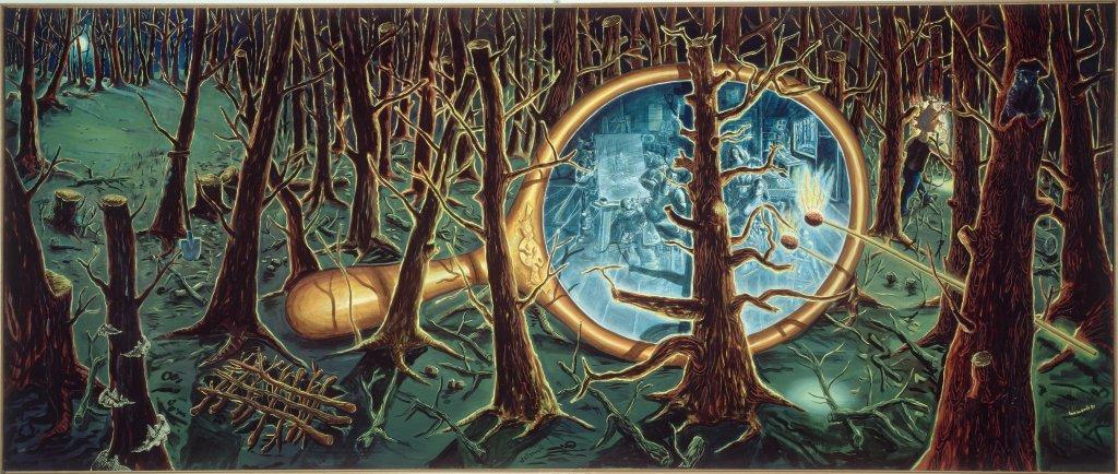 Jörg Immendorff, Weltenwald (La forêt du monde) 1997 - 1999, Dusseldorf mon amour, CCCOD