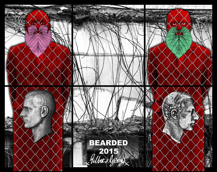 Gilbert & George, Bearded, 2016, Beard pictures, Galerie Thaddaeus Ropac