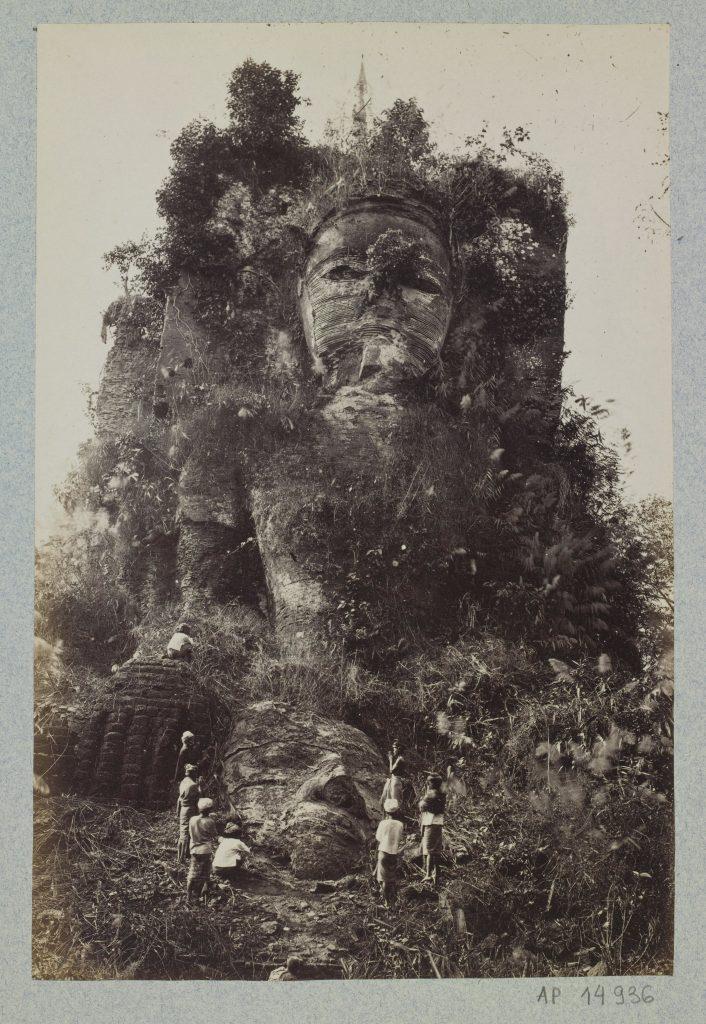 J. Jackson et Bentley, Sans titre, La Pagode Kyaikpun, Bago, 1868