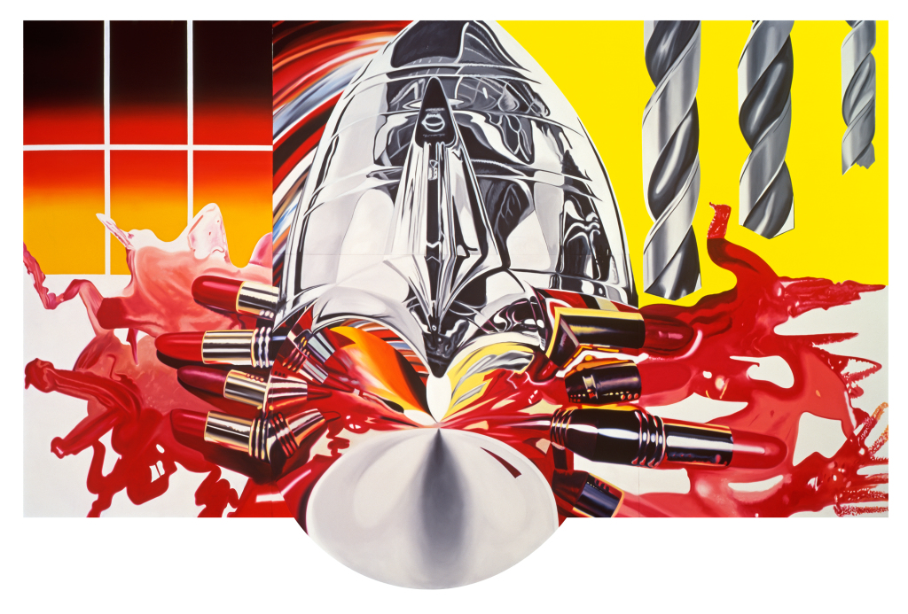 James Rosenquist, The Swimmer in the Econo-mist (Painting 3), 1997-98