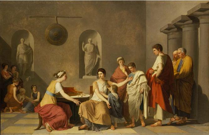 Cornélie, mère des Gracques, 1789, Joseph Benoît Suvée, MBA Tours
