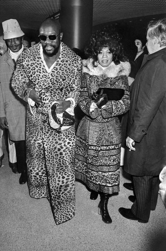 Isaac Hayes dans le public pour le combat opposant Muhammad Ali et Joe Frazier Madison Square Garden New York, 1971, Un français à New-York, Galerie de l'Instant
