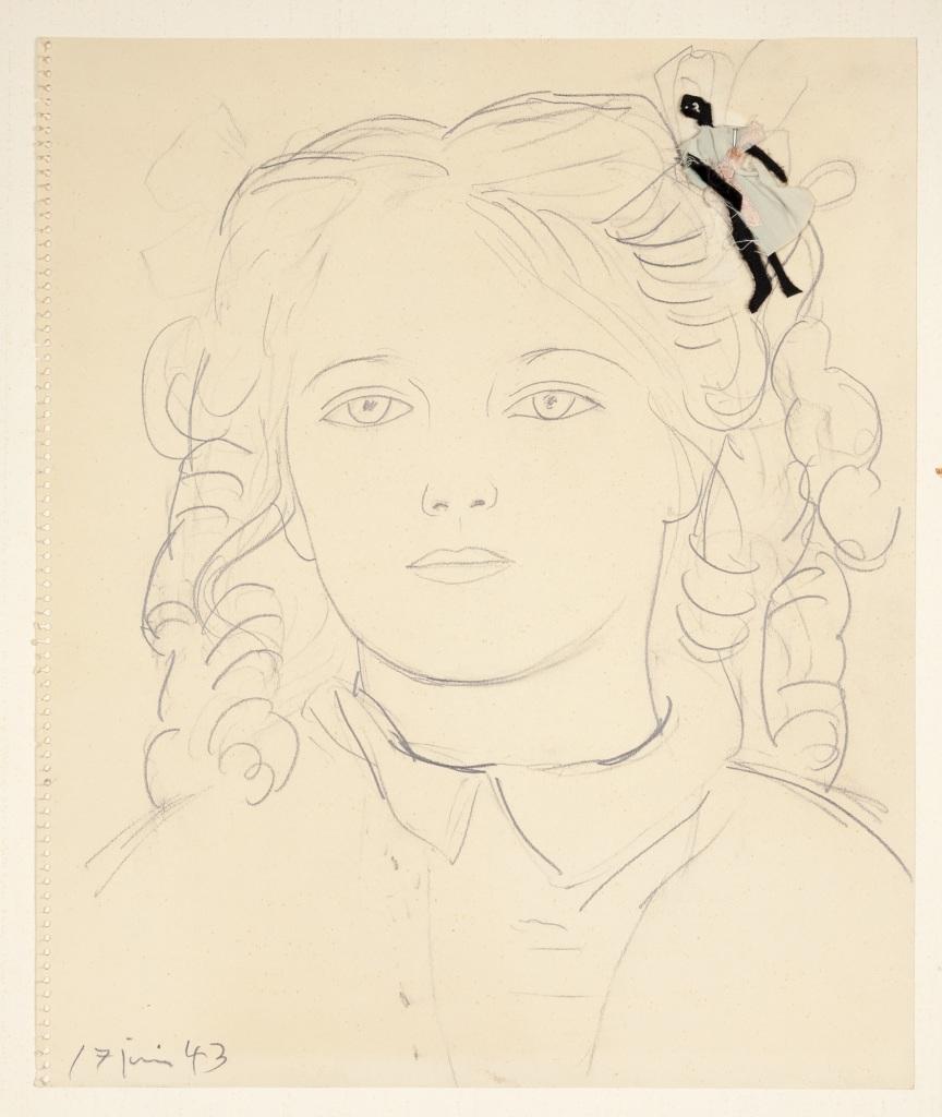 Pablo Picasso, Maya à la poupée dans les cheveux, 1943 - Exposition Picasso et Maya, Père et Fille à la Gagosian Gallery