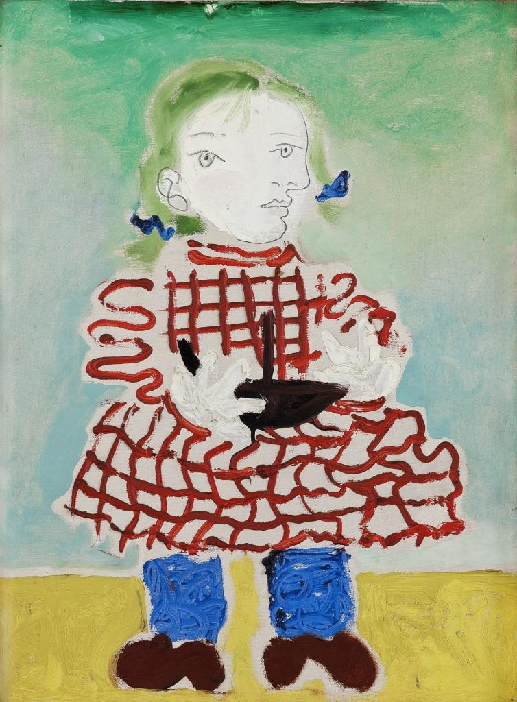Pablo Picasso, Maya au tablier, 1938 - Exposition Picasso et Maya, Père et Fille à la Gagosian Gallery