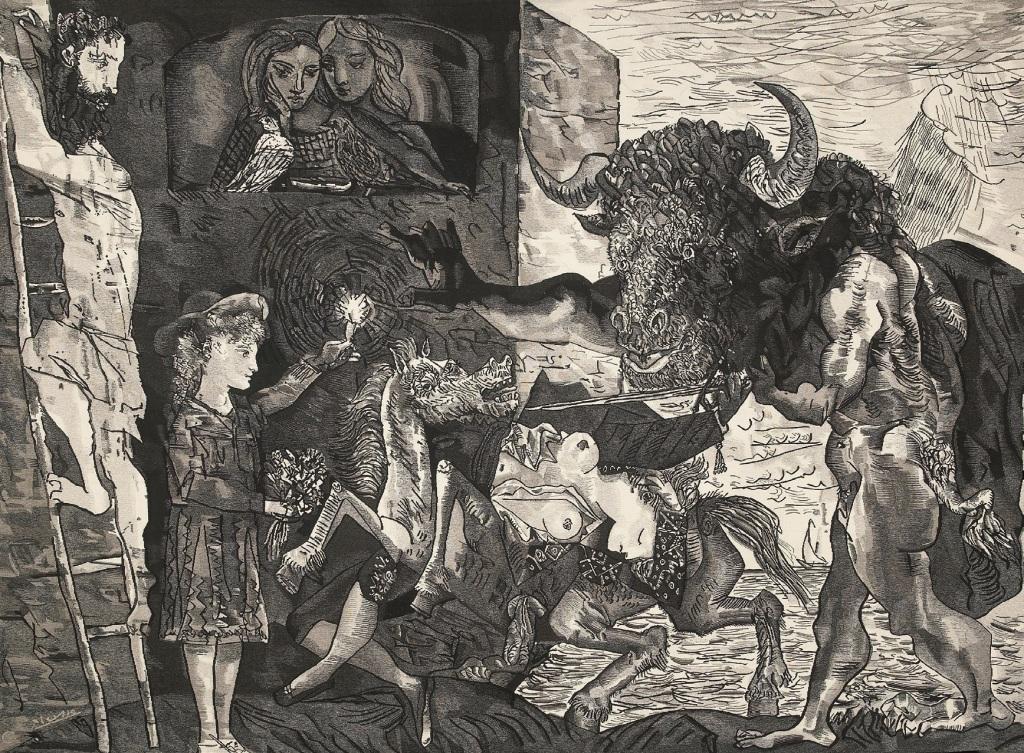Pablo Picasso (d'après) Yvette Cauquil-Prince, maître d'oeuvreLa minotauromachi, Yvette Cauquil-Prince, musée du Pays de Sarrebourg