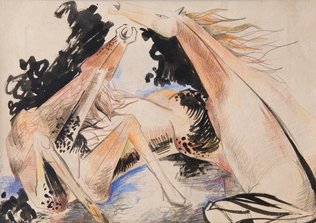 Yvette Cauquil-Prince Sans titre, 1947-1961, Yvette Cauquil-Prince, musée du Pays de Sarrebourg